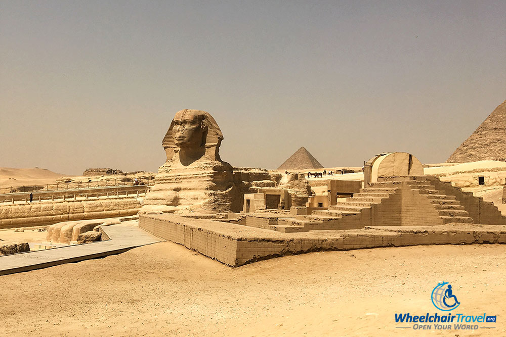 The Great Sphinx in Giza, Egypt.