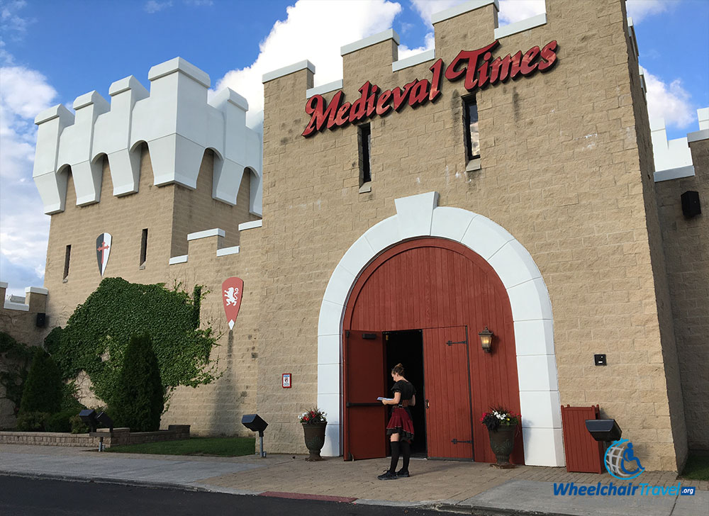 Entrance to the Medieval Times Castle in Schaumburg, IL.