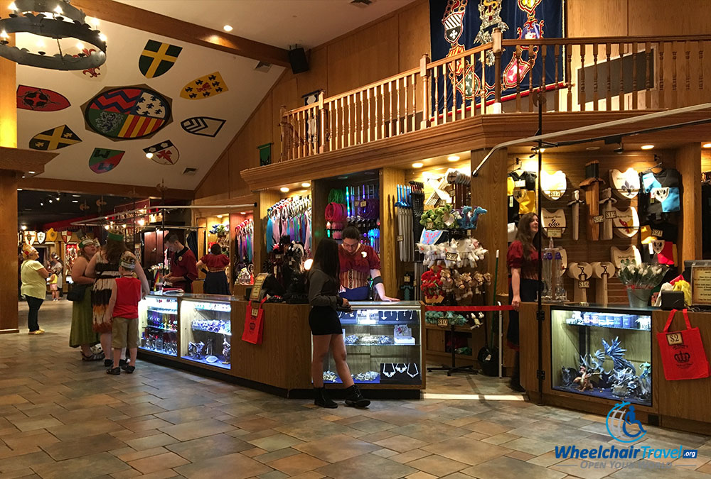 Souvenir stand at Medieval Times