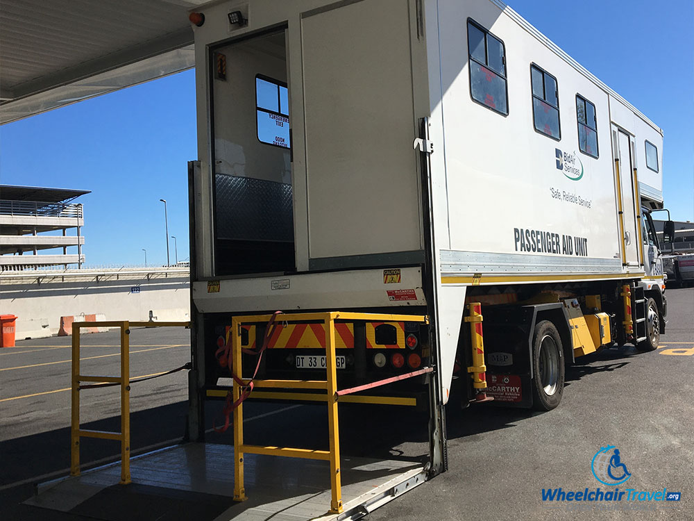 AmbuLift at Cape Town International Airport in Cape Town, South Africa.
