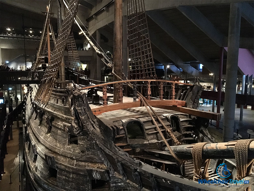 The almost fully intact Vasa, a 17th century warship in Stockholm, Sweden.