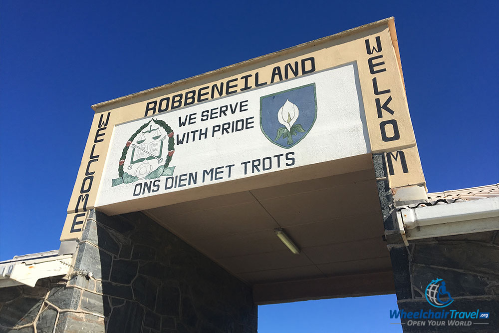 Historic entrance gate to the Robben Island prison complex.