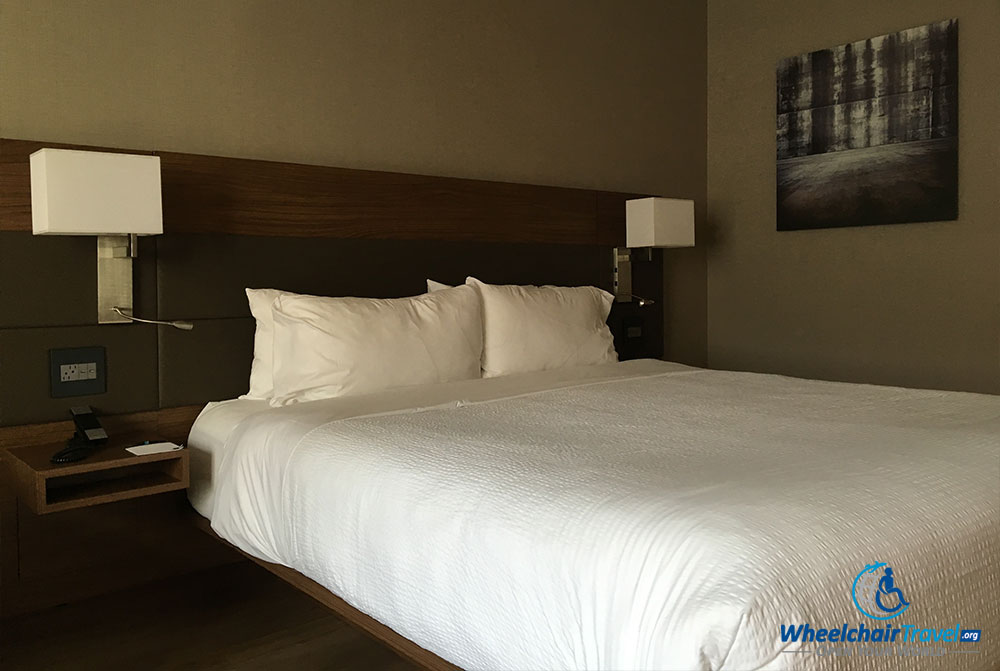 King size bed at AC Hotel Chicago Downtown.