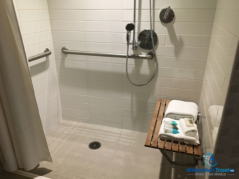 ADA Compliant Roll In Shower Design.