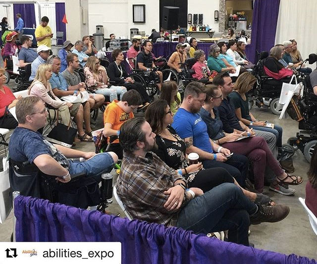 Abilities Expo travel workshop crowd.