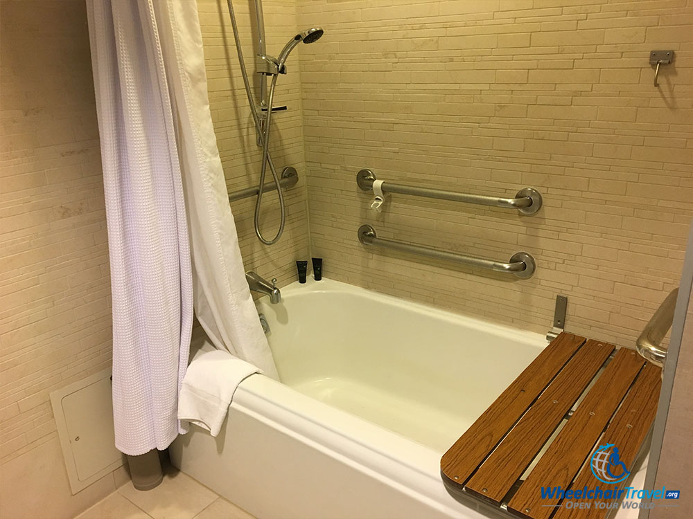 ADA Compliant Bathtub At Hyatt Centric Arlington.