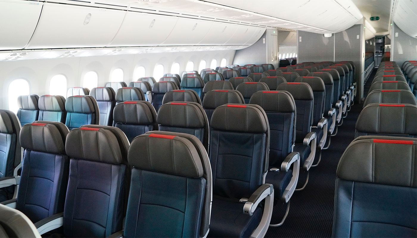 American Airlines economy class seats.