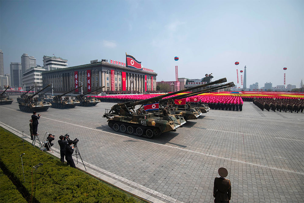 Military parade in North Korea in 2017. | Photo courtesy The INQUIRER.