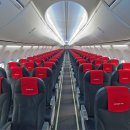Seats on the Norwegian Airlines Boeing 737 MAX 8.