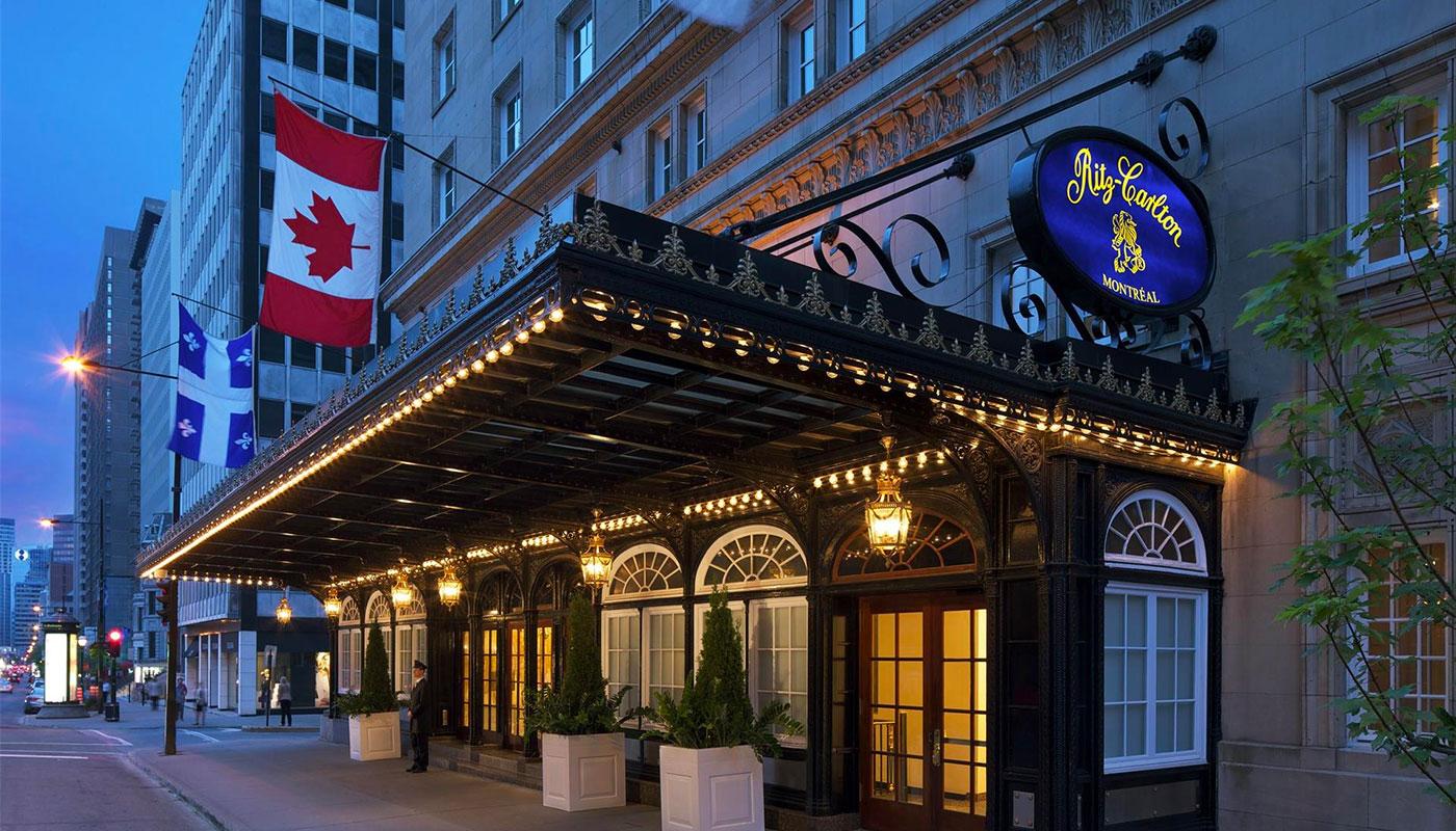 Exterior of the Ritz-Carlton Montreal hotel.