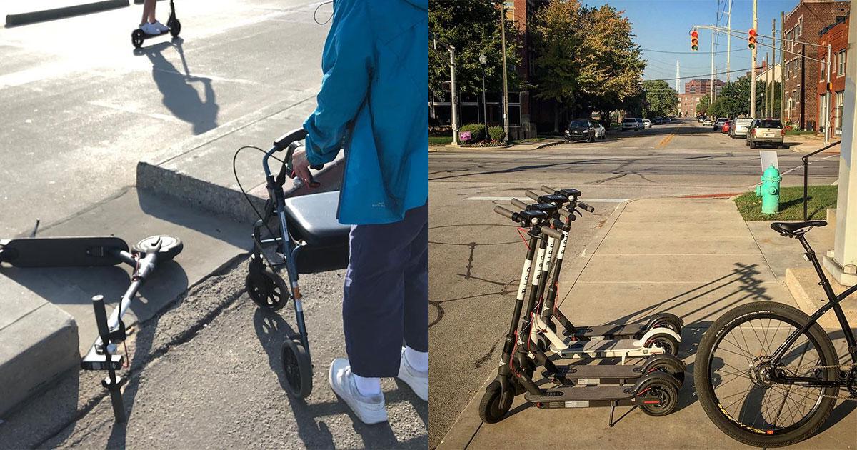 Scooters Blocking Wheelchair Access to Sidewalks - WheelchairTravel org