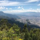 View from Monserrate Hill in Bogota, Colombia.