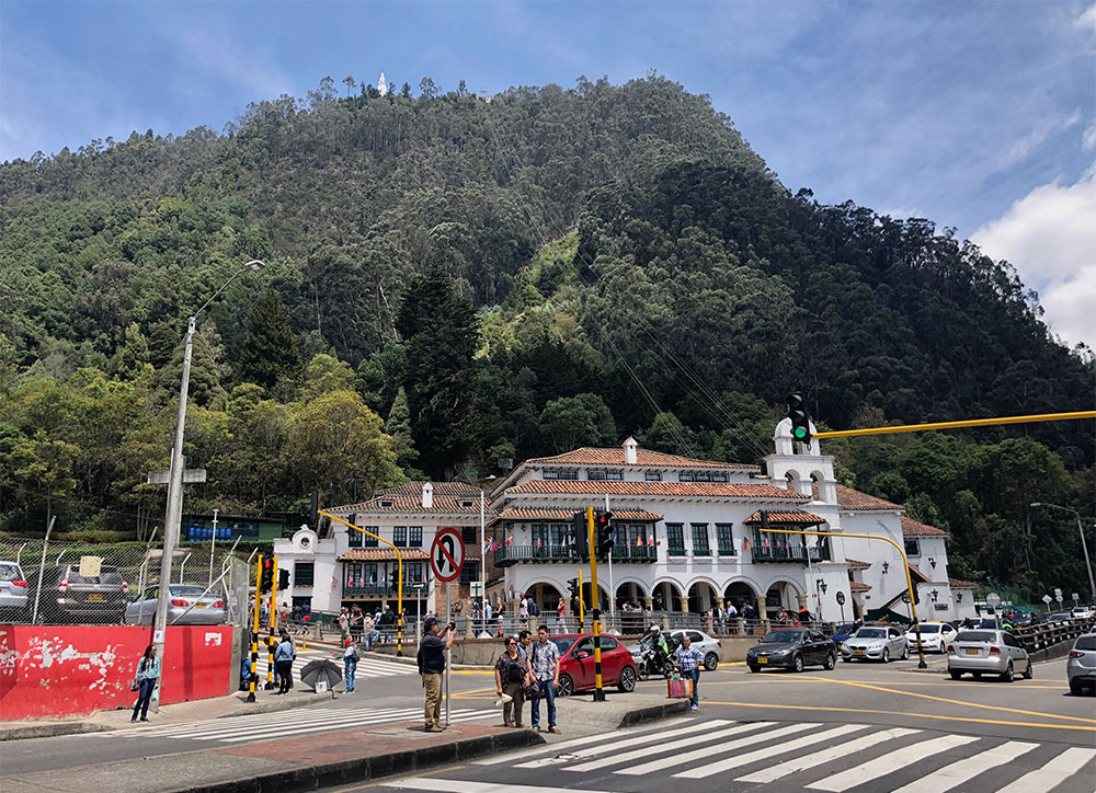 Funicular and cable car station at foot of Monserrate Hill.