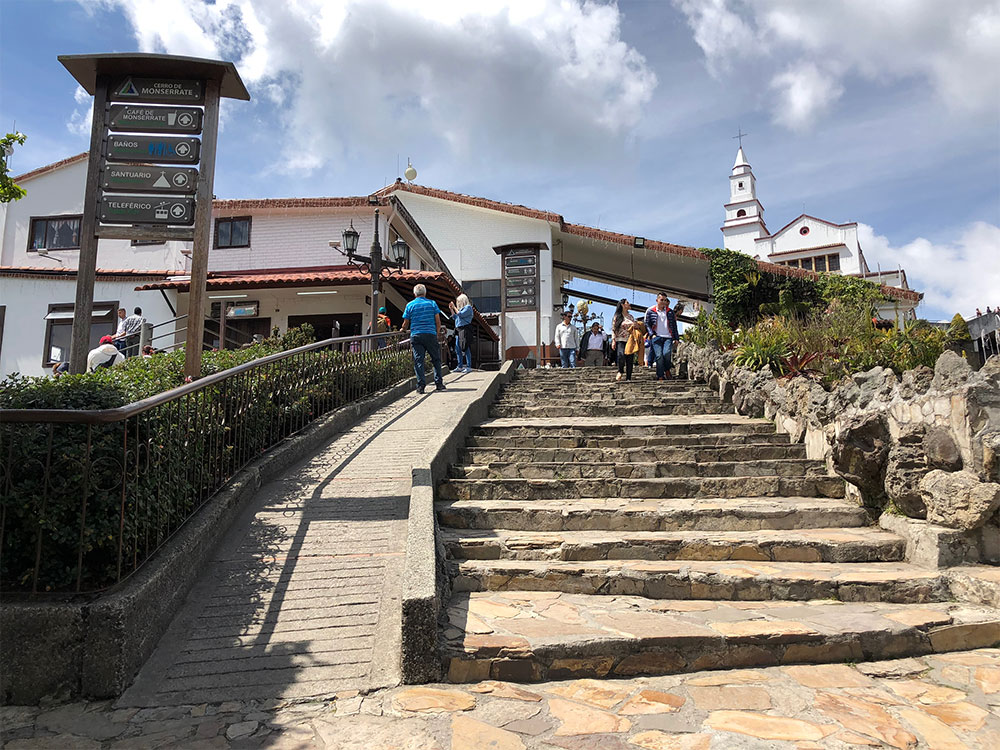 Extremely steep pathway on Monserrate.