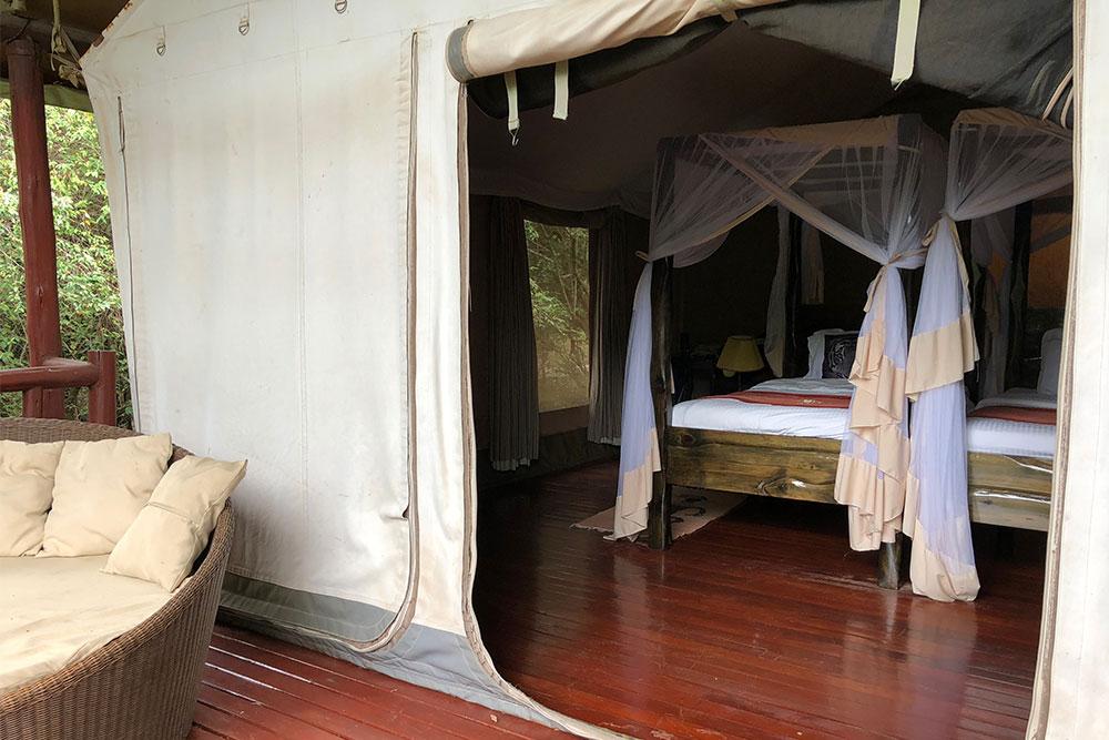 Accessible room at Ashnil Mara tented camp.