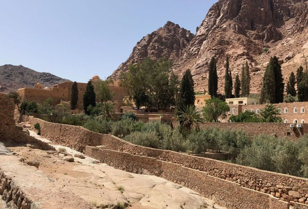 St. Catherine's Monastery at the foot of Mt. Sinai in Egypt.