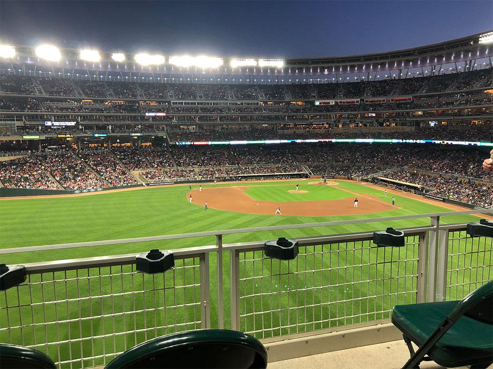 ADA seats in the left field bleachers.