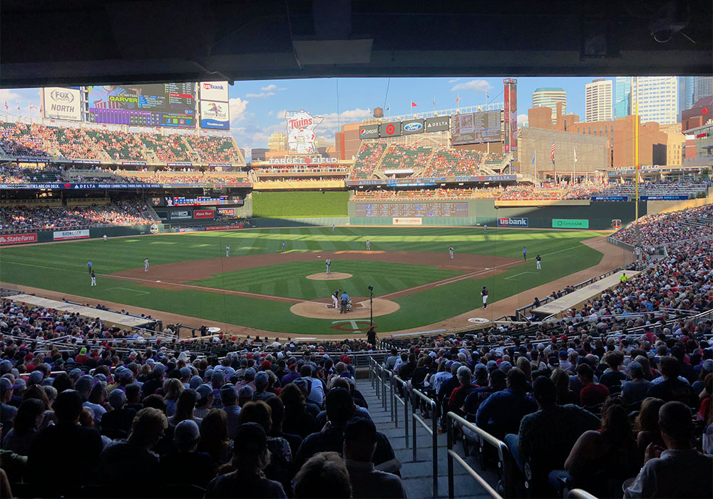 Minnesota Twins/Target Field view from section 115.
