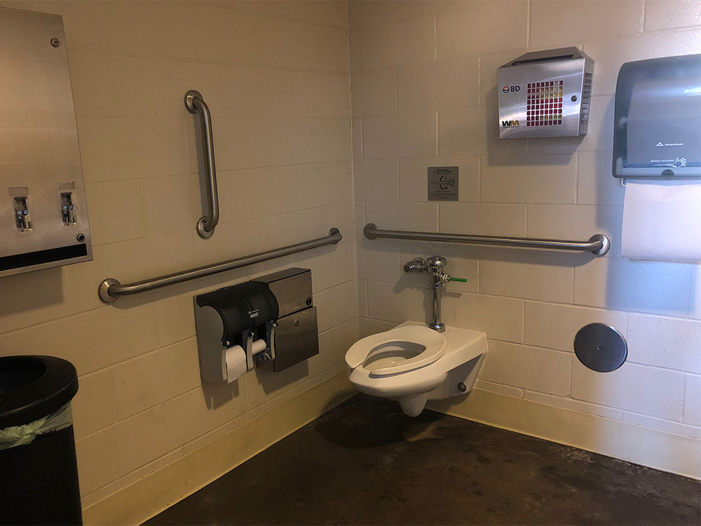 ADA accessible toilet at Target Field.