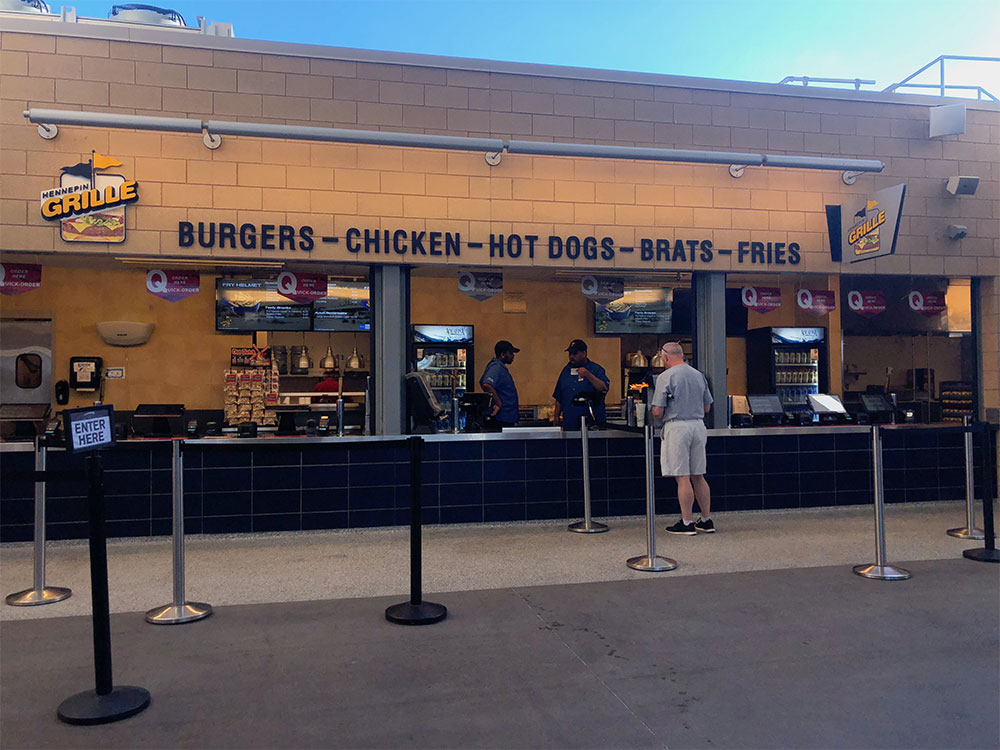 Concession stand at Target Field.