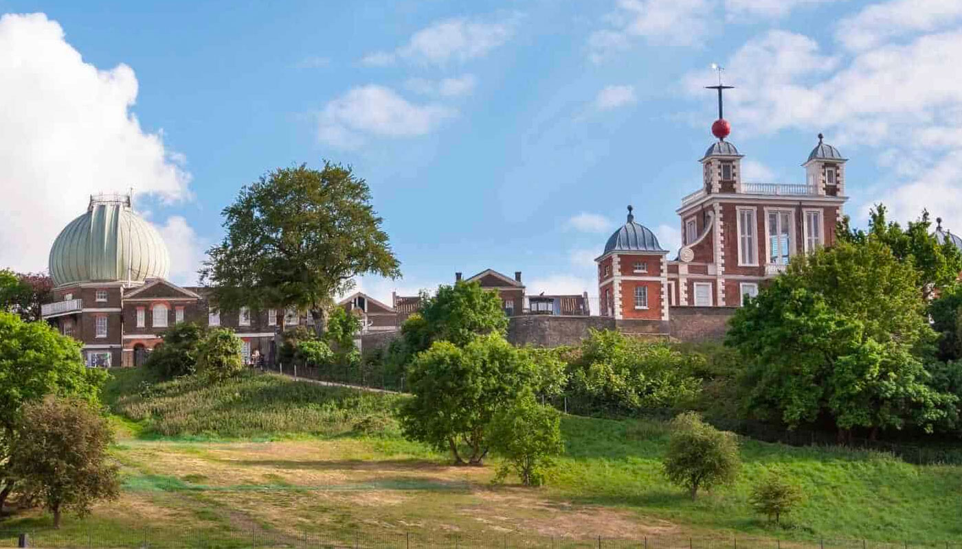 The Royal Observatory, Greenwich, seen from a distance.