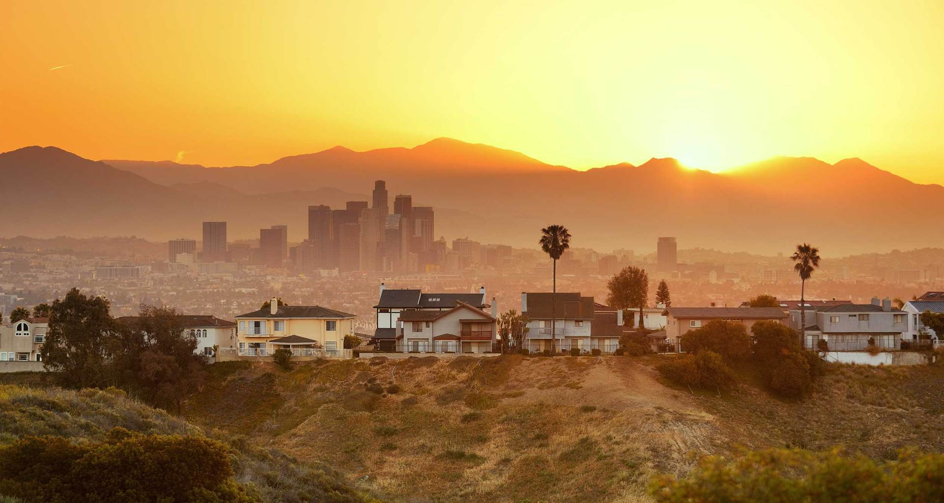 Los Angeles, California skyline.