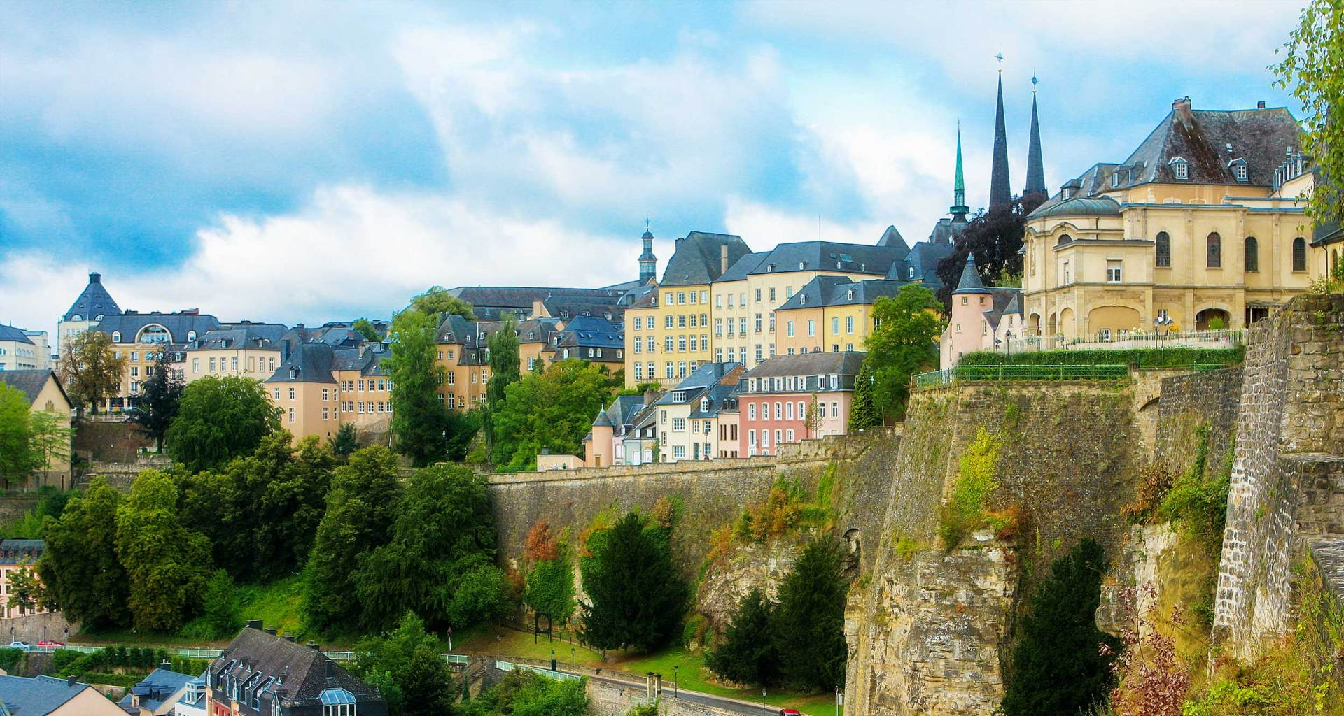 Luxembourg skyline.