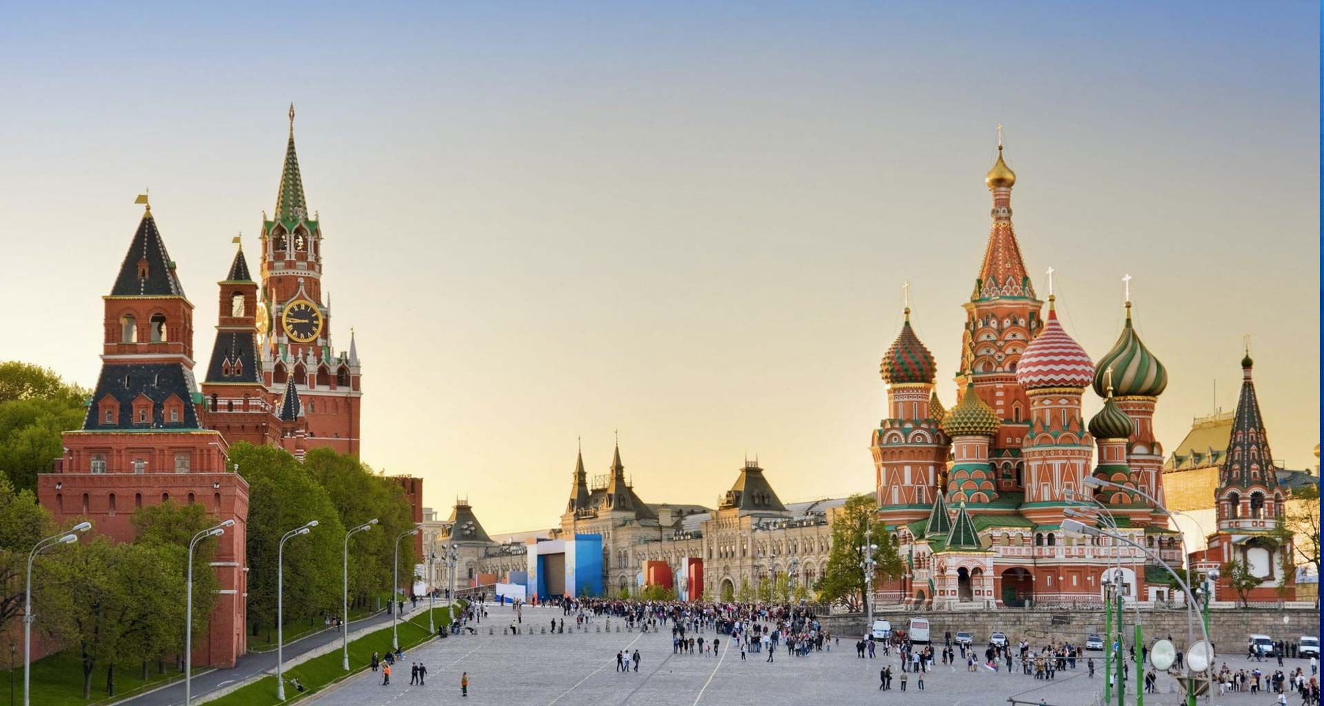 Red Square in Moscow, Russia.