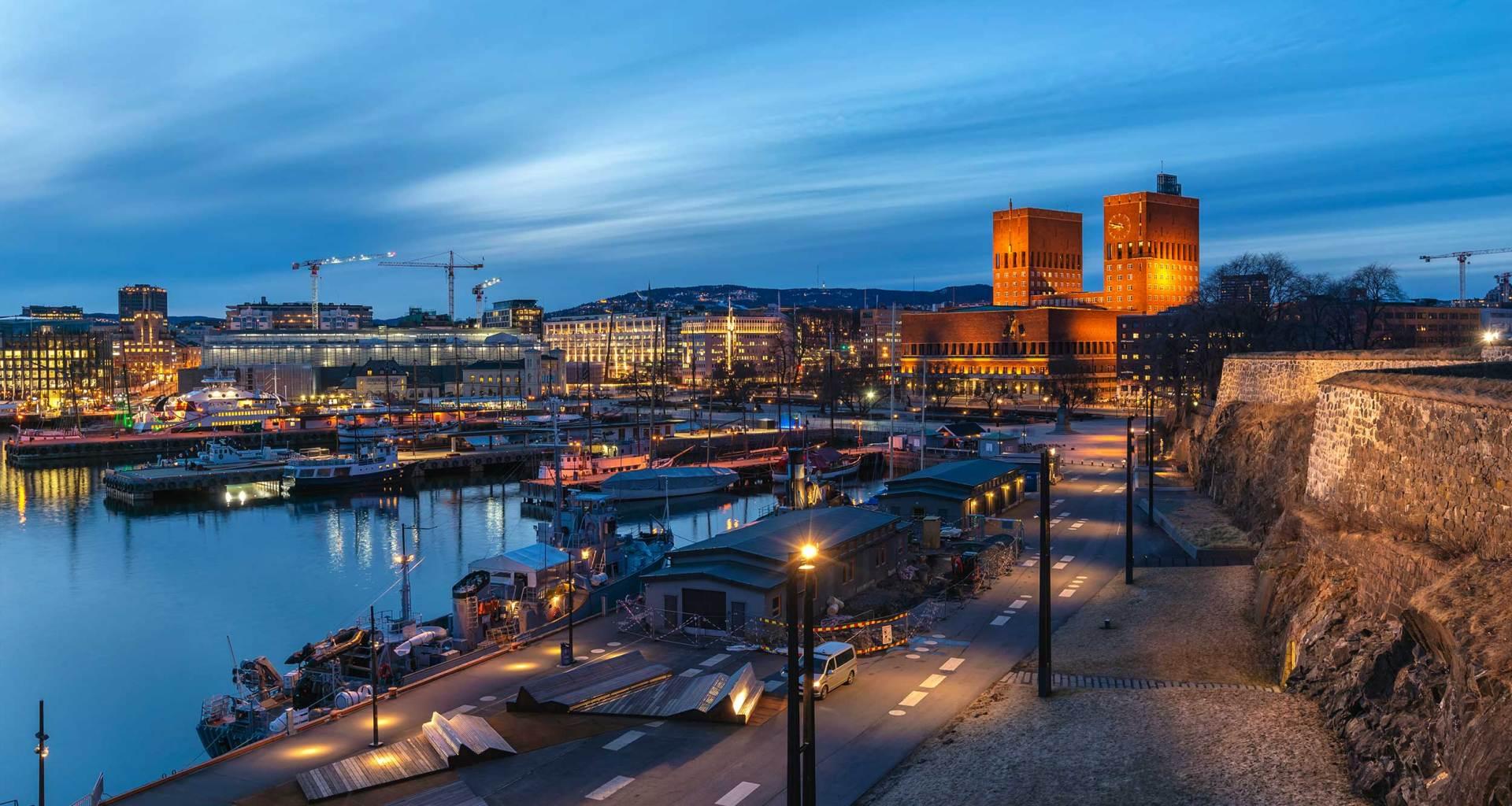 Oslo, Norway skyline.