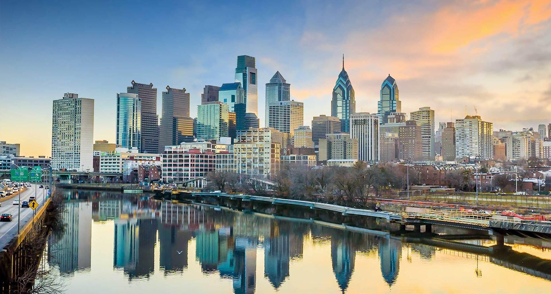 Philadelphia, Pennsylvania skyline.