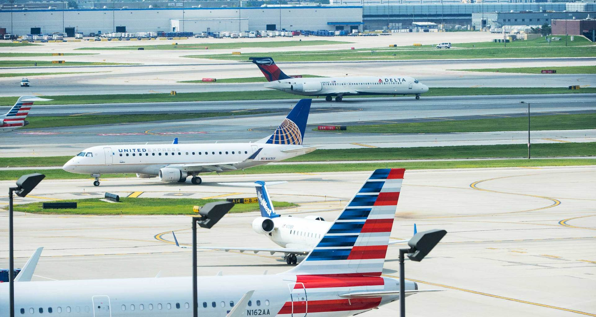 Airplanes at Chicago O'Hare International Airport.
