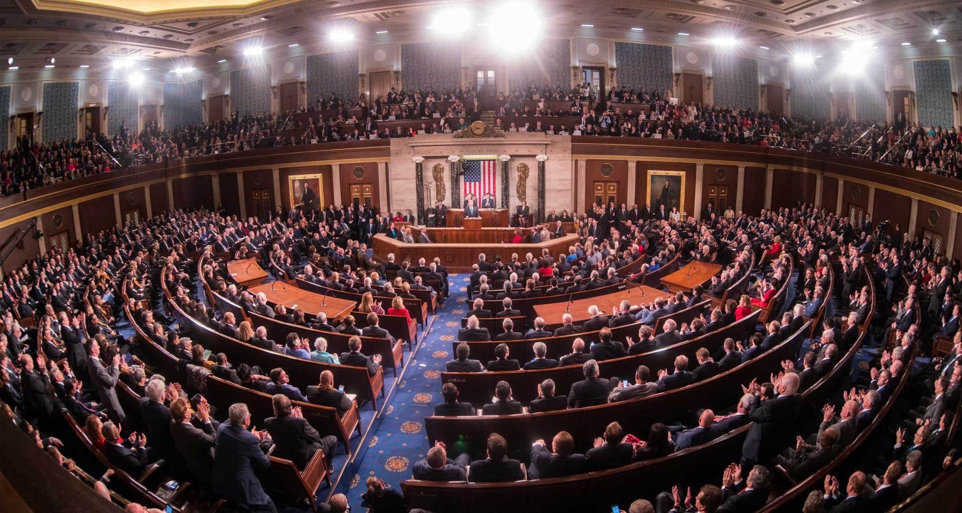 United States House of Representatives chamber during the 2018 State of the Union address.