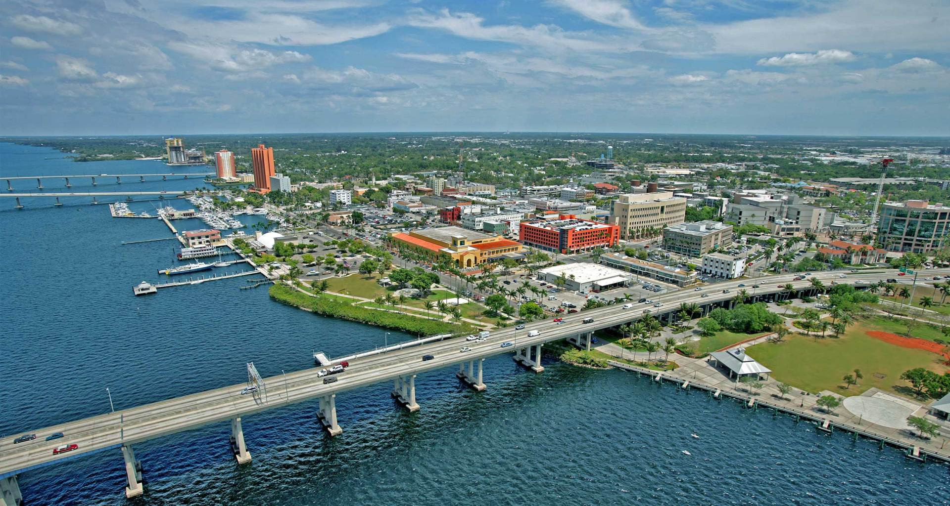 Fort Myers waterfront skyline.