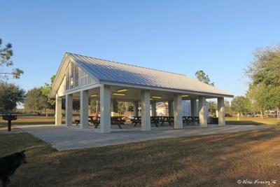 View of pavilion between loops