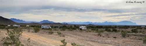 Panoramic view out our RV window