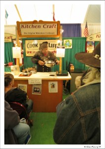 Cooking demo at the big tent