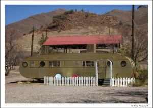 Vintage trailers for rent at the Shady Dell
