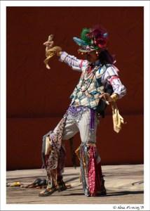 Street performer in period dress
