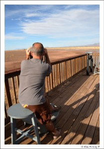 Paul on the viewing deck