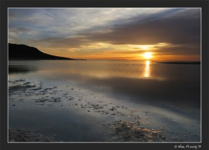 An amazing sunset from the shores of Antelope Island