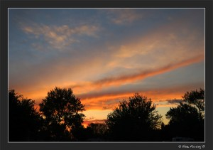 A rather brilliant sunset at our RV park