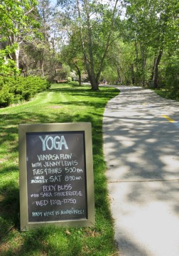 They even have Yoga on the greenbelt