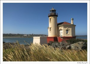 "Our ""office"" for July/Aug. Lovely Coquille River Lighthouse!"