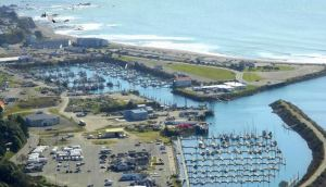 Aerial view of Brookings Harbor