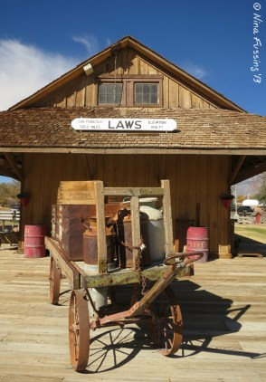 The original Law's 1883 depot and loading dock