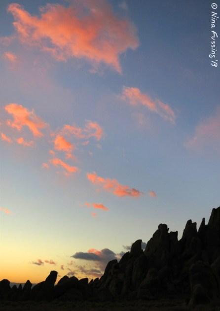 Sunrise over the rock spires
