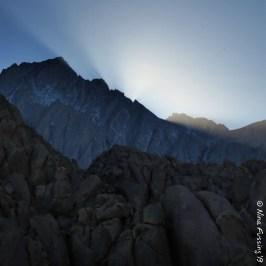 Last light on the mountains