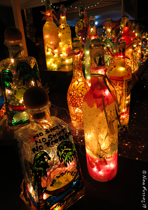 Colorful bottles at the street fair