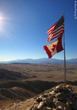 The Flags at the summit of Flag Mountain