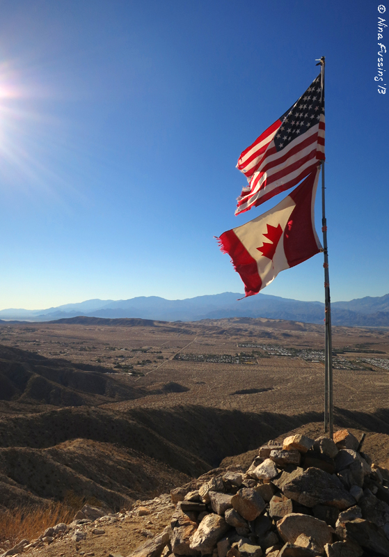 The Flags at the summit